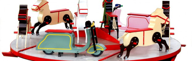 Lasten karuselli sai pyörät