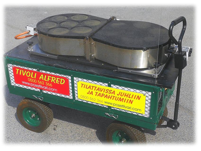 Kaasukäyttöinen lettupannu 200 kpl / h